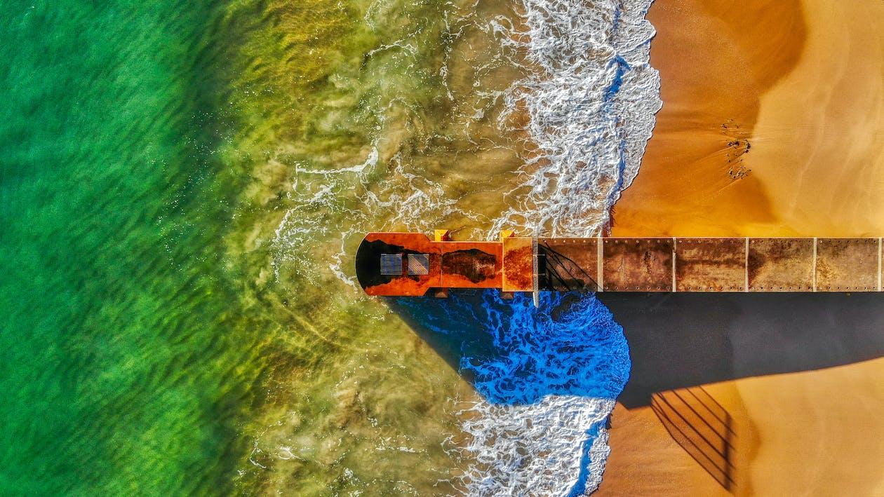 hiekkaranta, ilmakuva, lintuperspektiivi