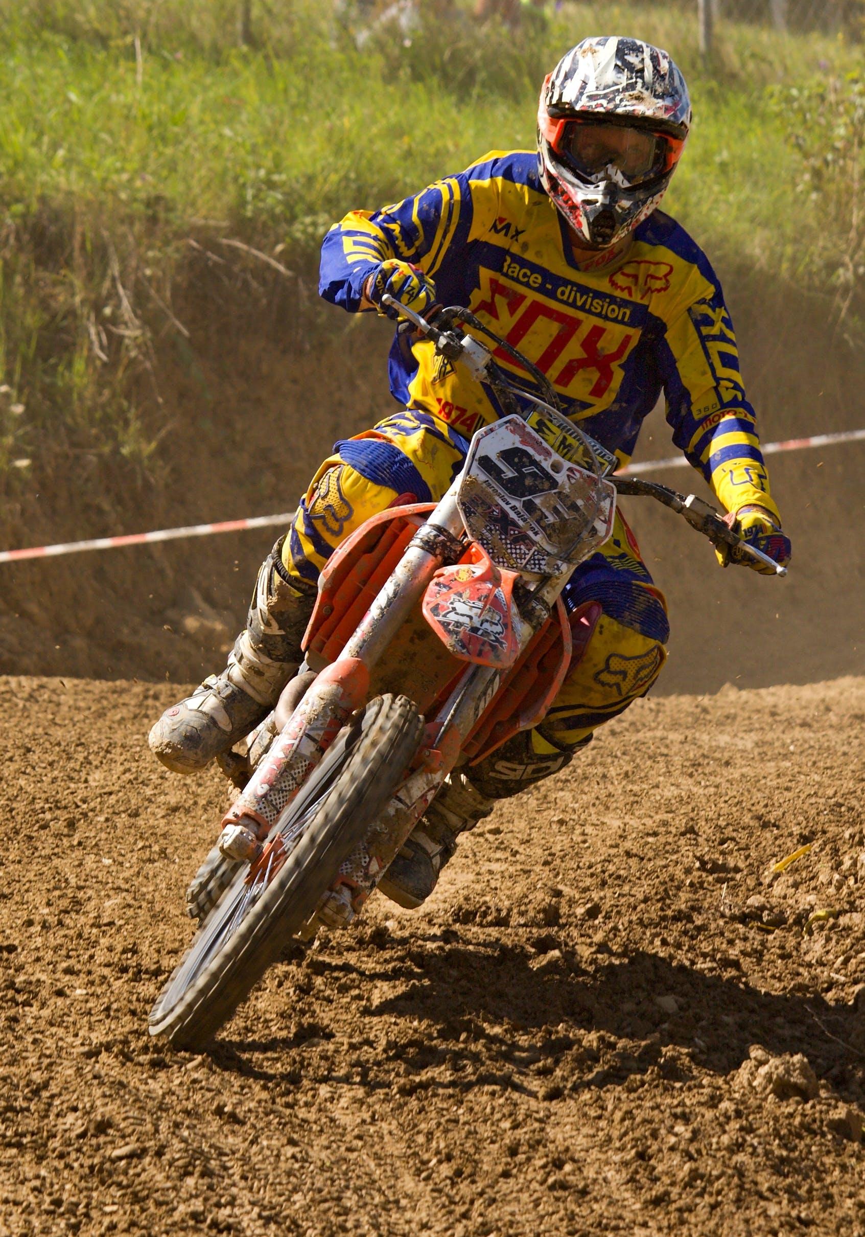 Gratis lagerfoto af fart, motocross, motorcykel, motorcykelræs