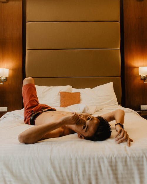 Free stock photo of art, asian man, bed, emotion