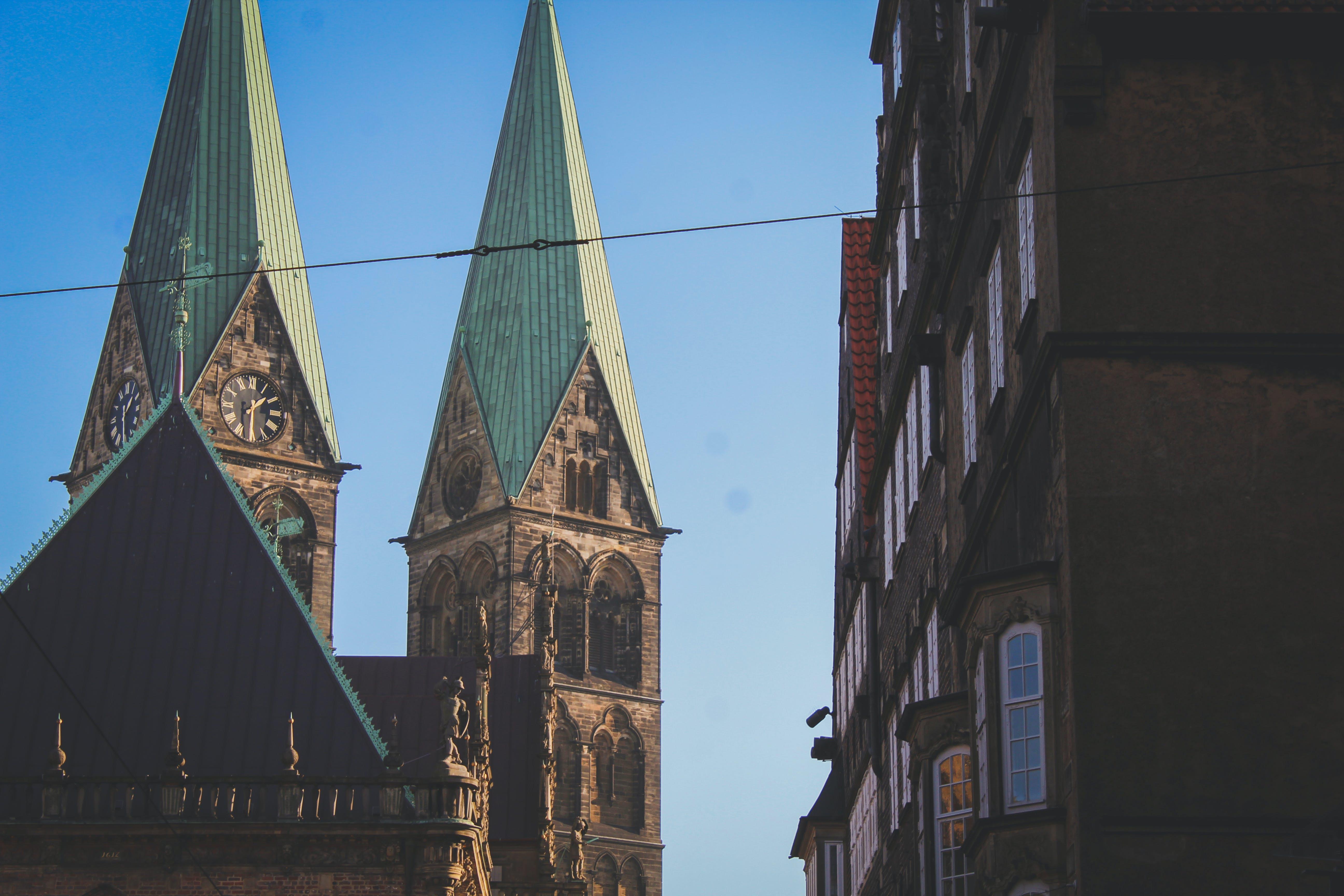 Kostenloses Stock Foto zu android wallpaper, blue sky, church, free wallpaper