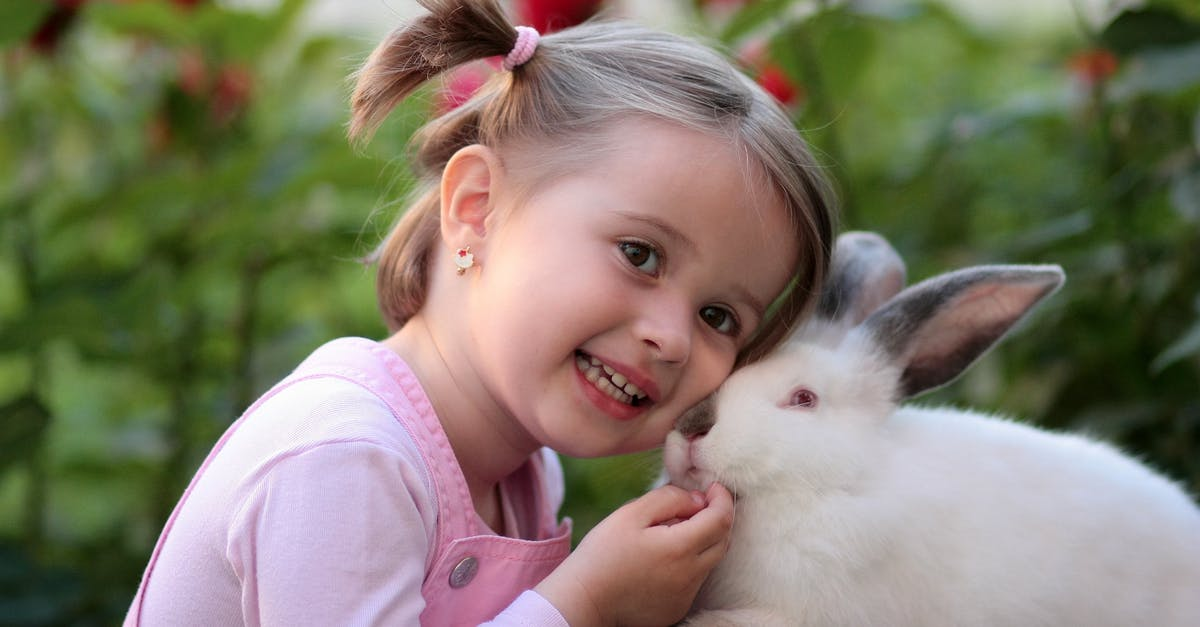 Girl uses rabbit