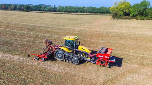 Free stock photo of Drilling Winter Wheat
