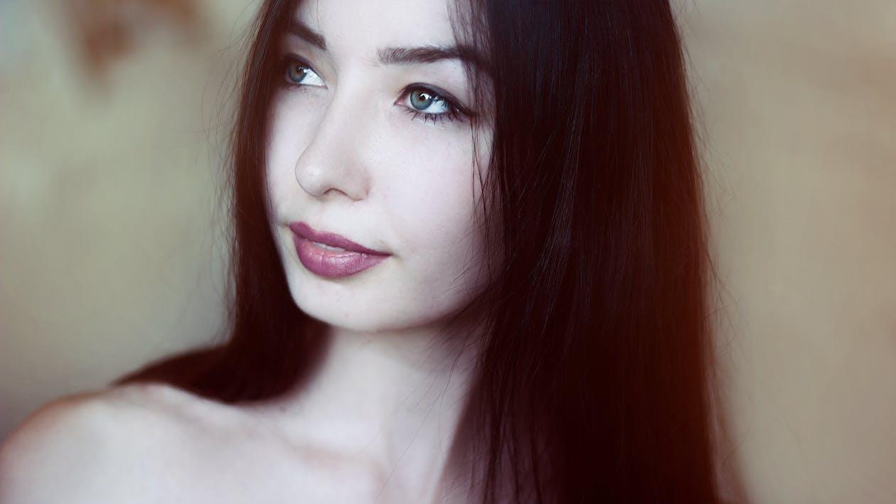 attraktiv, close-up, dame
