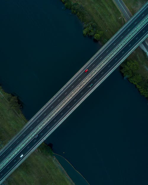 Cars Passing Through Bridge