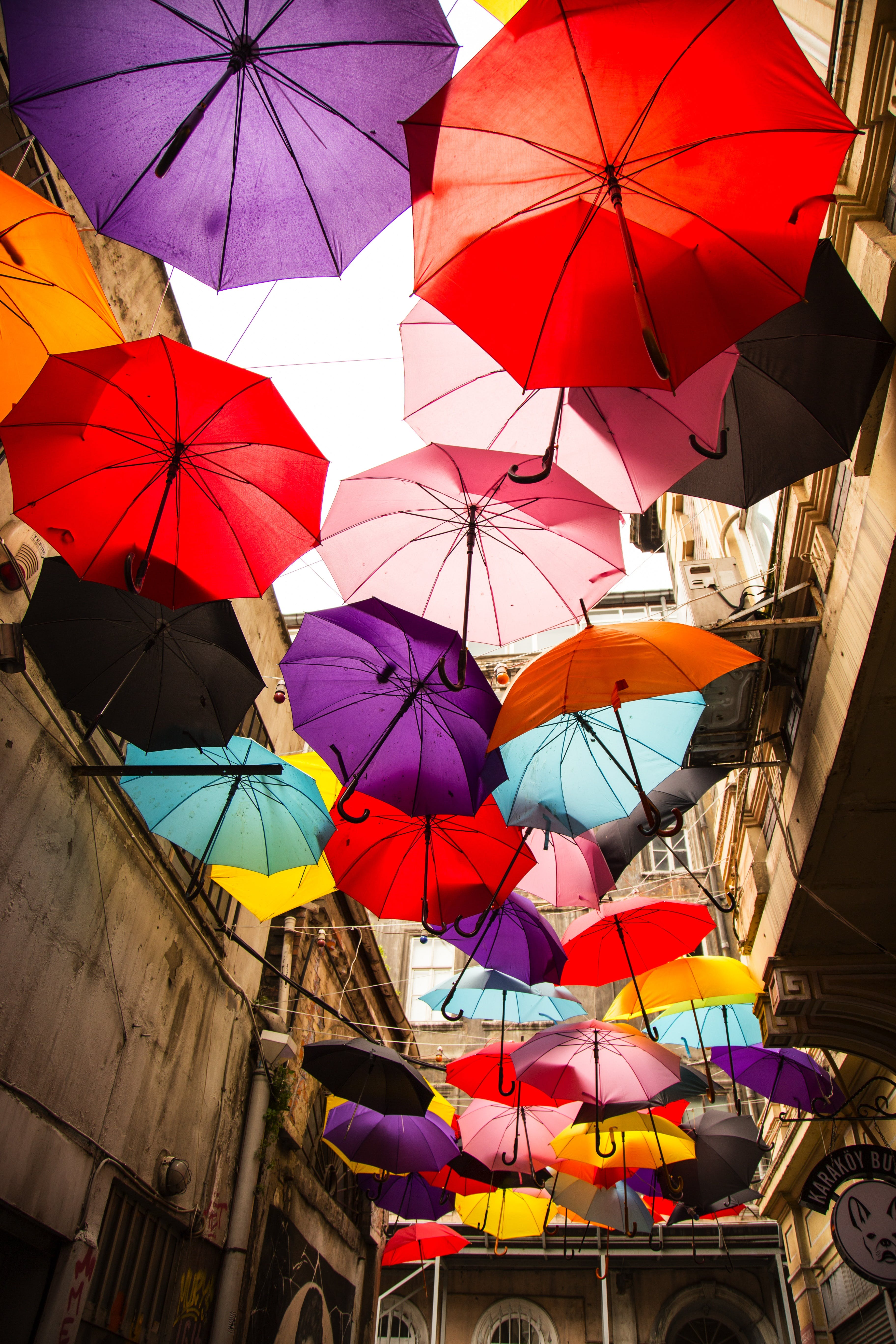 Free stock photo of colorful, happiness, umbrella, outdoor