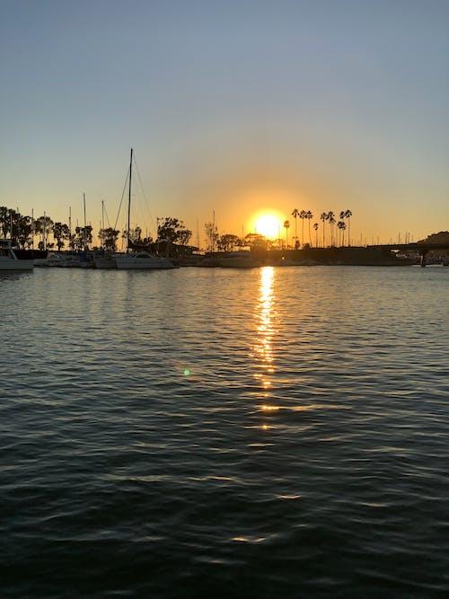 Free stock photo of harbors, ocean sunset