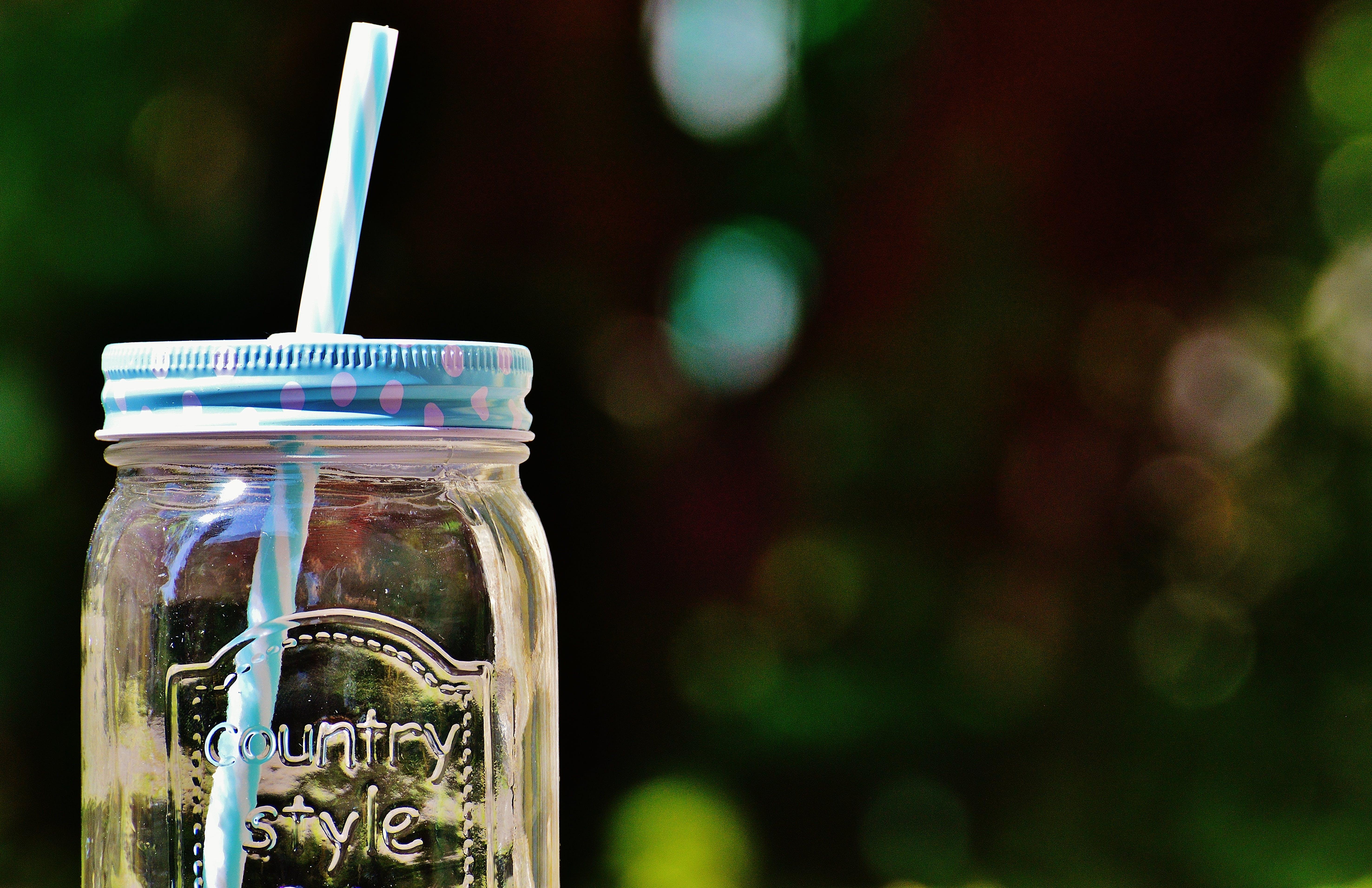Country Style Glass Mason Jar