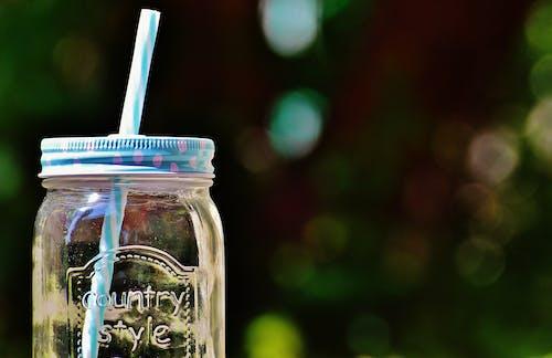 乾草, 吸管, 宏觀, 容器 的 免费素材照片