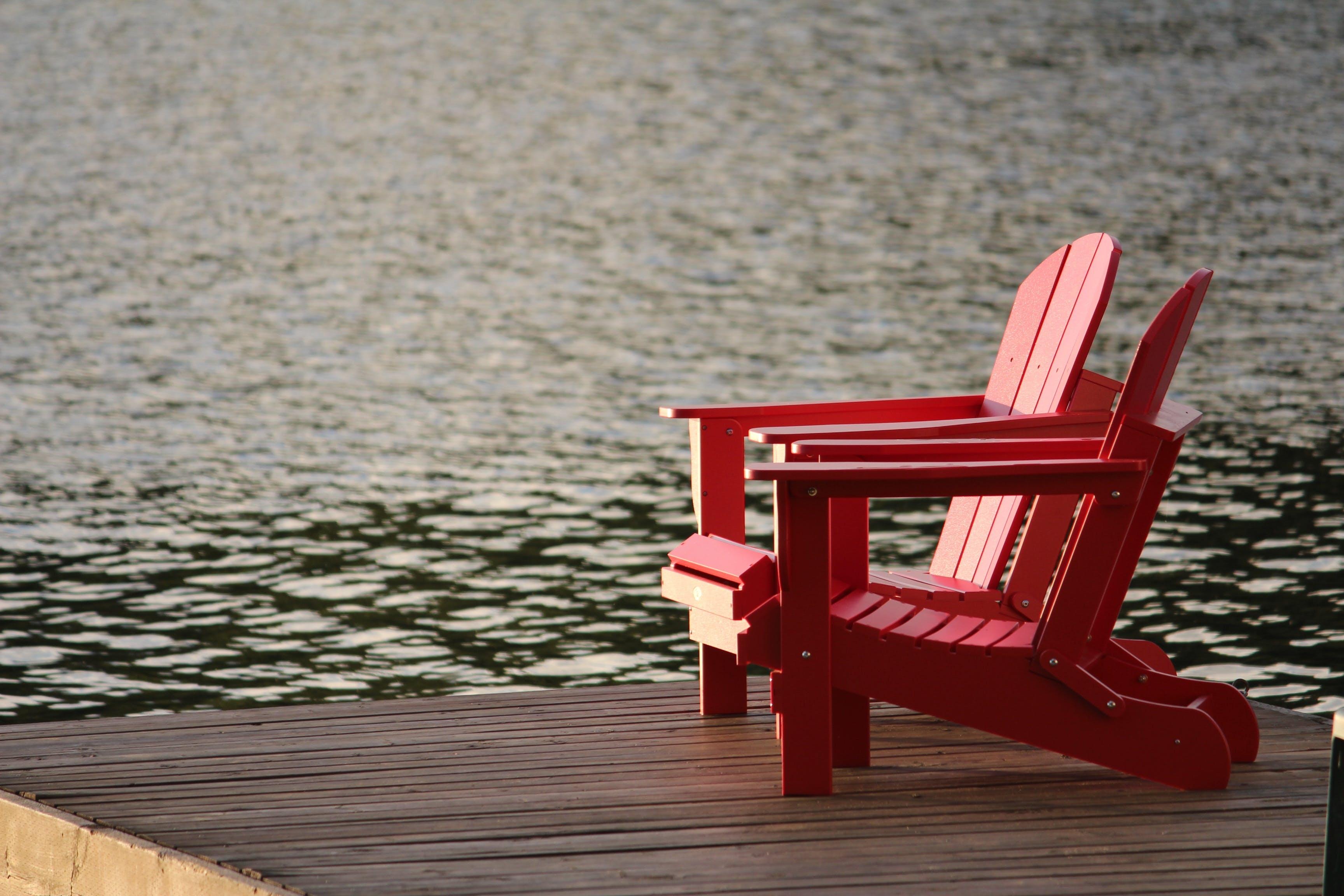Imagine de stoc gratuită din agrement, apă, bancă, de lemn