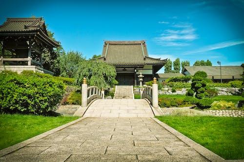 Foto stok gratis Arsitektur, Asia, atap, aula candi