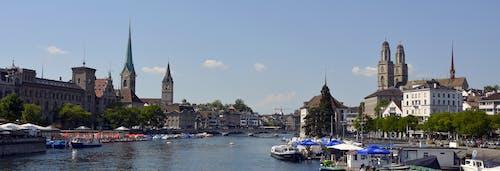 城市, 城鎮, 天空, 尖塔 的 免費圖庫相片