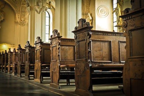 Δωρεάν στοκ φωτογραφιών με γλυπτά, διάδρομος, έδρα, εκκλησία