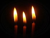 dark, fire, candles