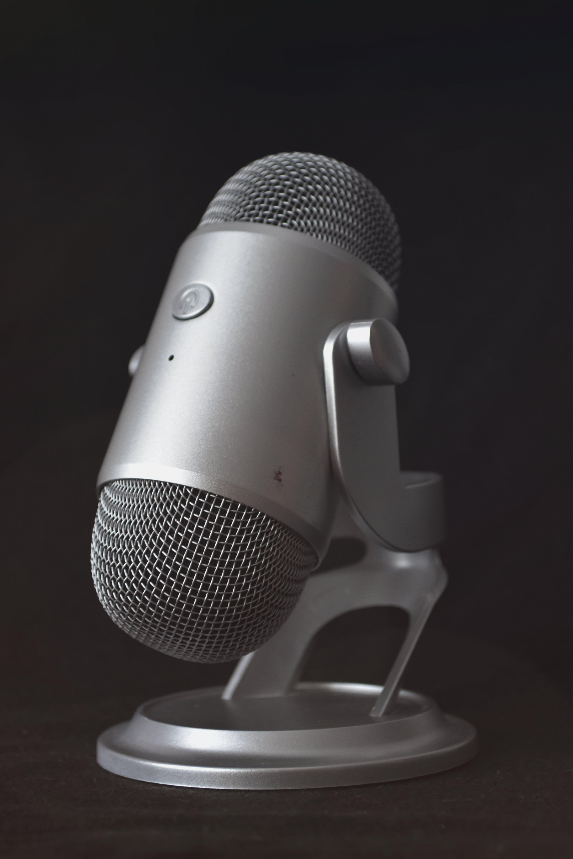 Silver Desk Microphone