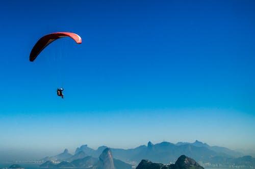 낙하산, 모험, 비행, 산의 무료 스톡 사진