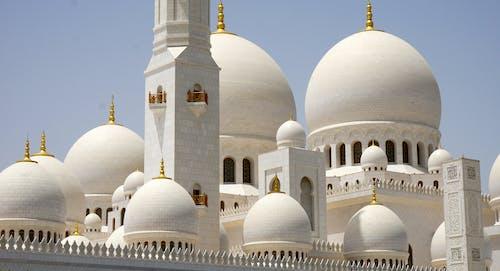 Foto d'estoc gratuïta de abu dhabi, adoració, adornat, arquitectura