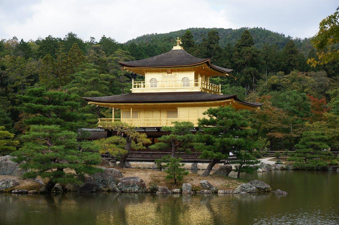 arkkitehtuuri, japani, kinkaku-ji