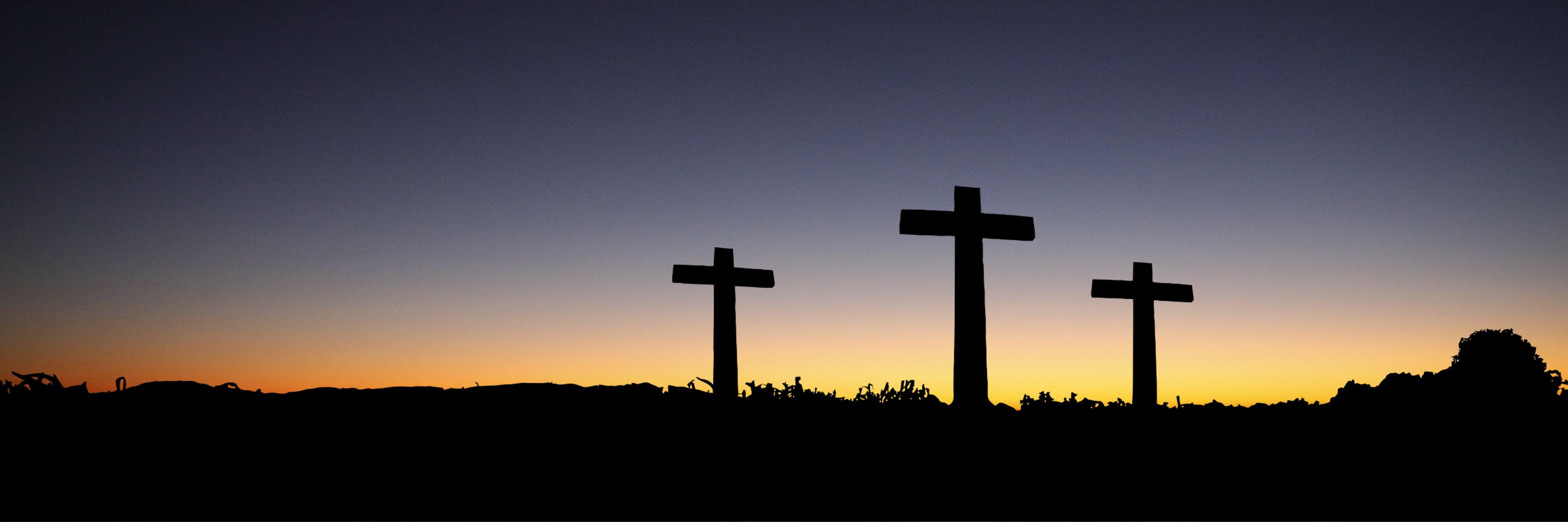 全景, 十字架, 基督教, 日出 的 免费素材照片