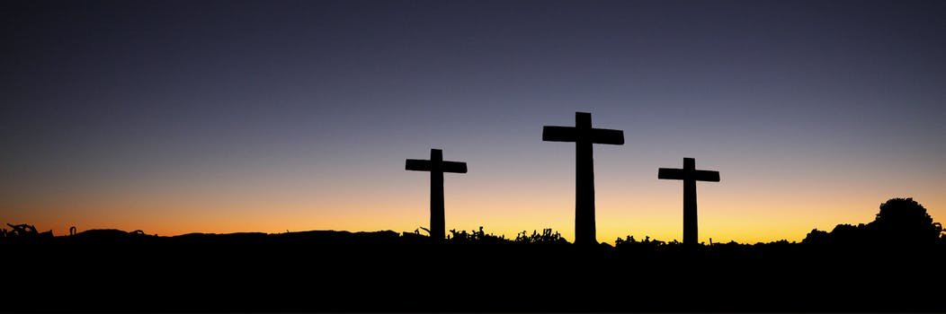 Free stock photos of cross pexels landscape view of 3 cross standing during sunset voltagebd Image collections