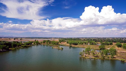 Foto d'estoc gratuïta de aigua, arbres, cel, natura