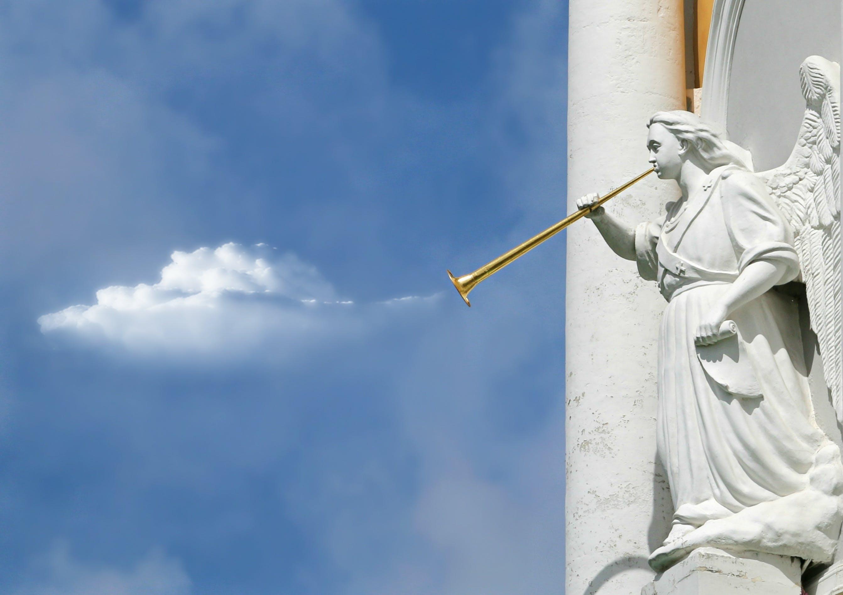 Horning Angel Statuette