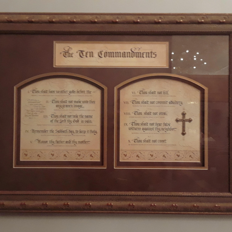 Free Stock Photo Of Decor Plaque Ten Commandment