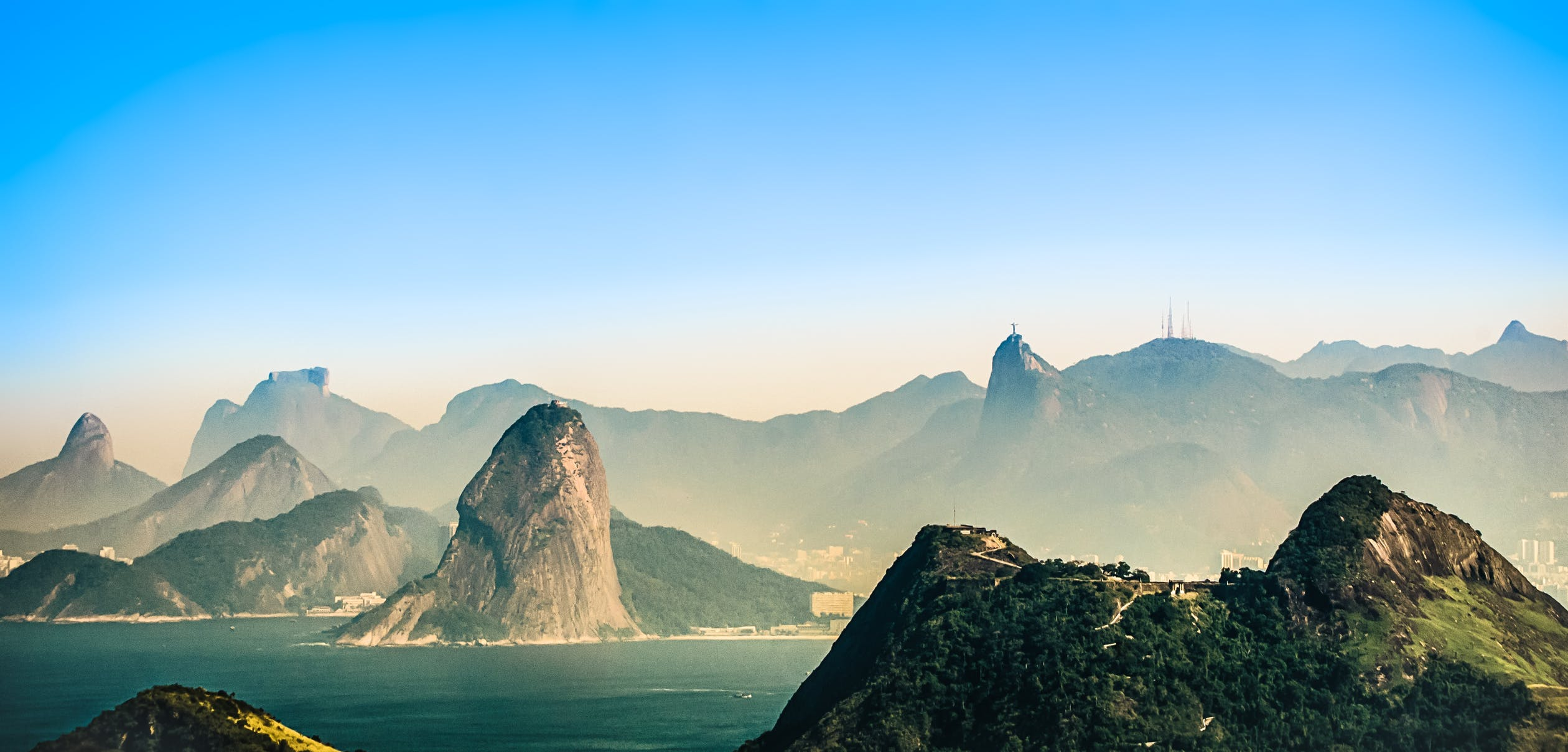 Rio de Janeiro from a distance, the city many know before moving to Brazil.