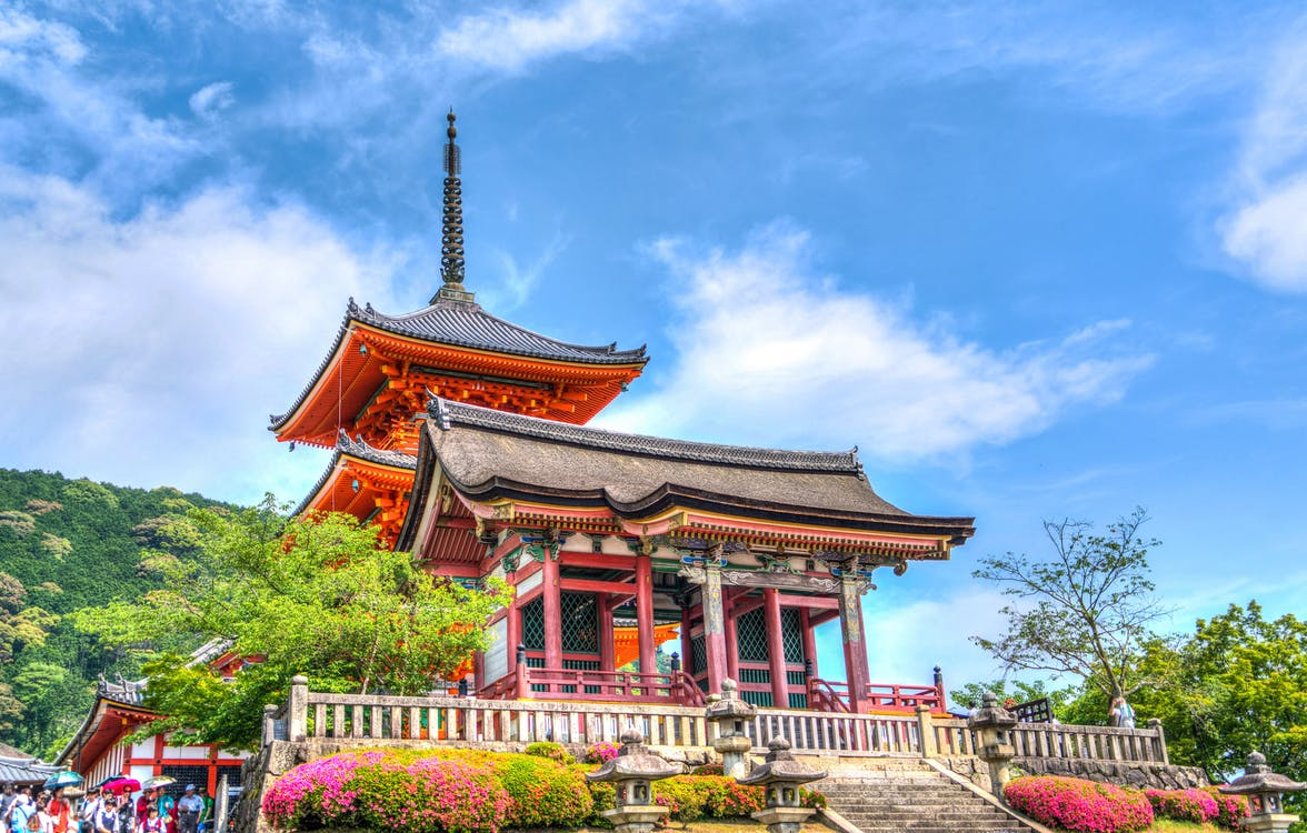Temple on Elevated Area Under Blue Sky and White Clouds during Daytime