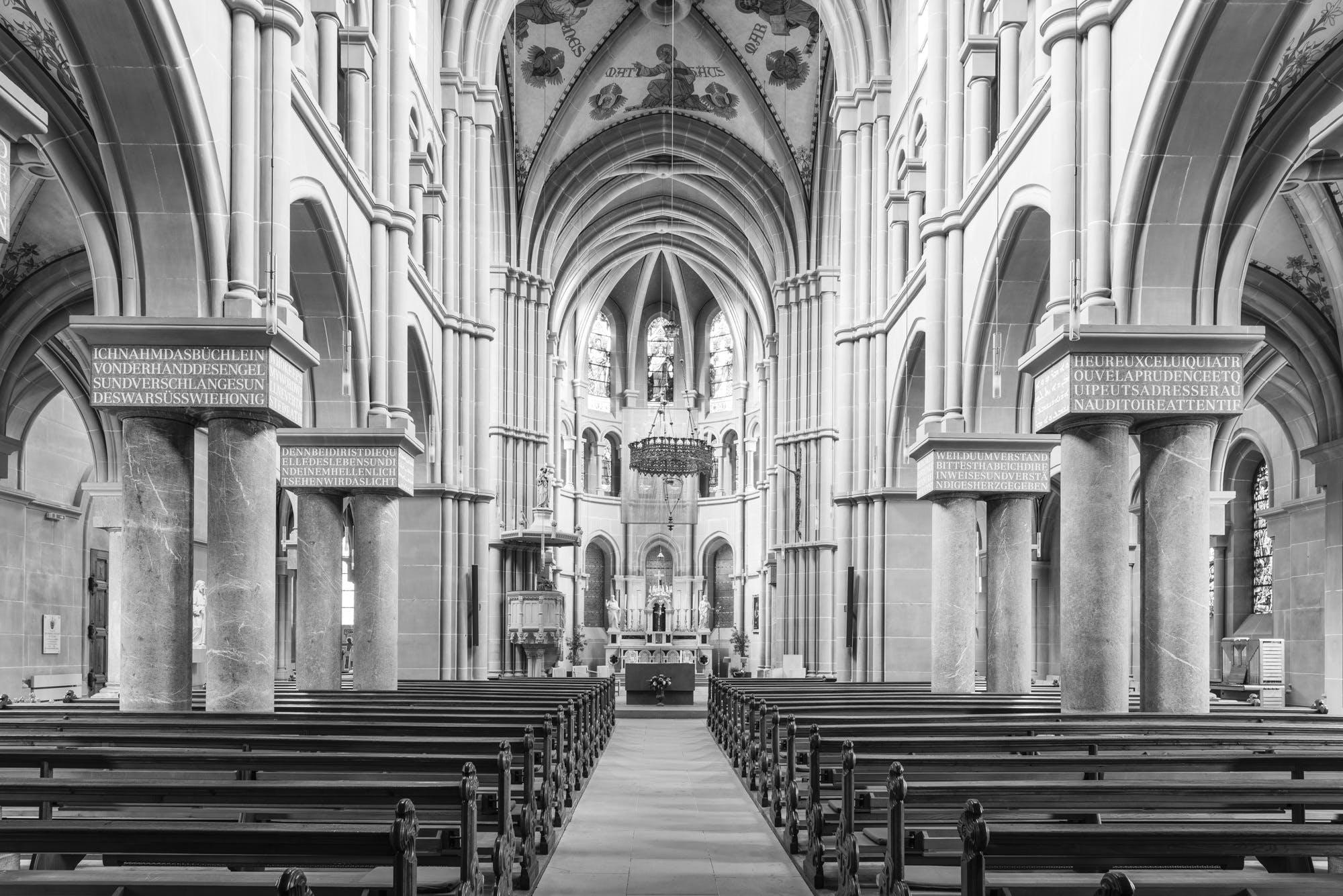 abtei, altar, anbetung