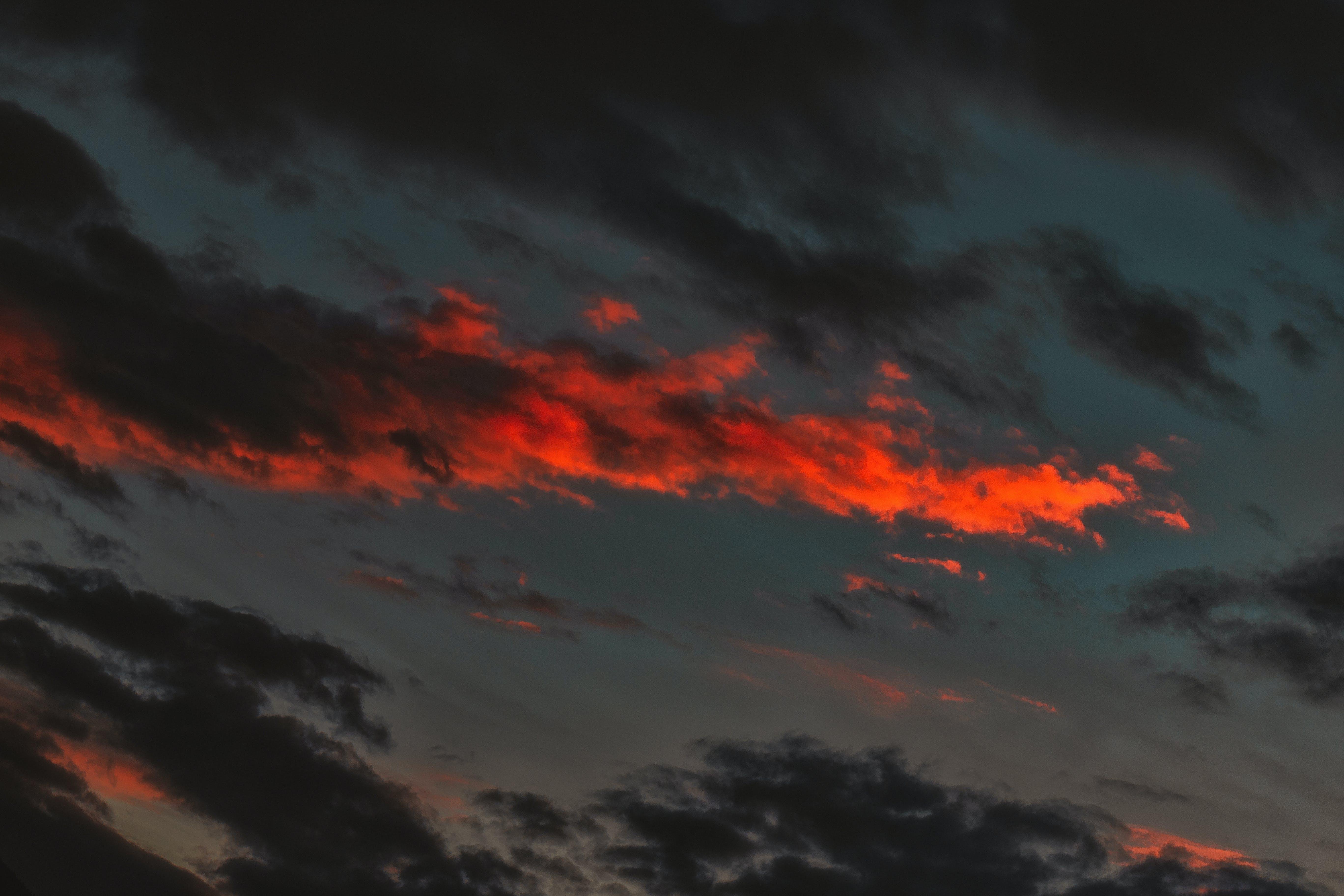 Orange and Black Clouds