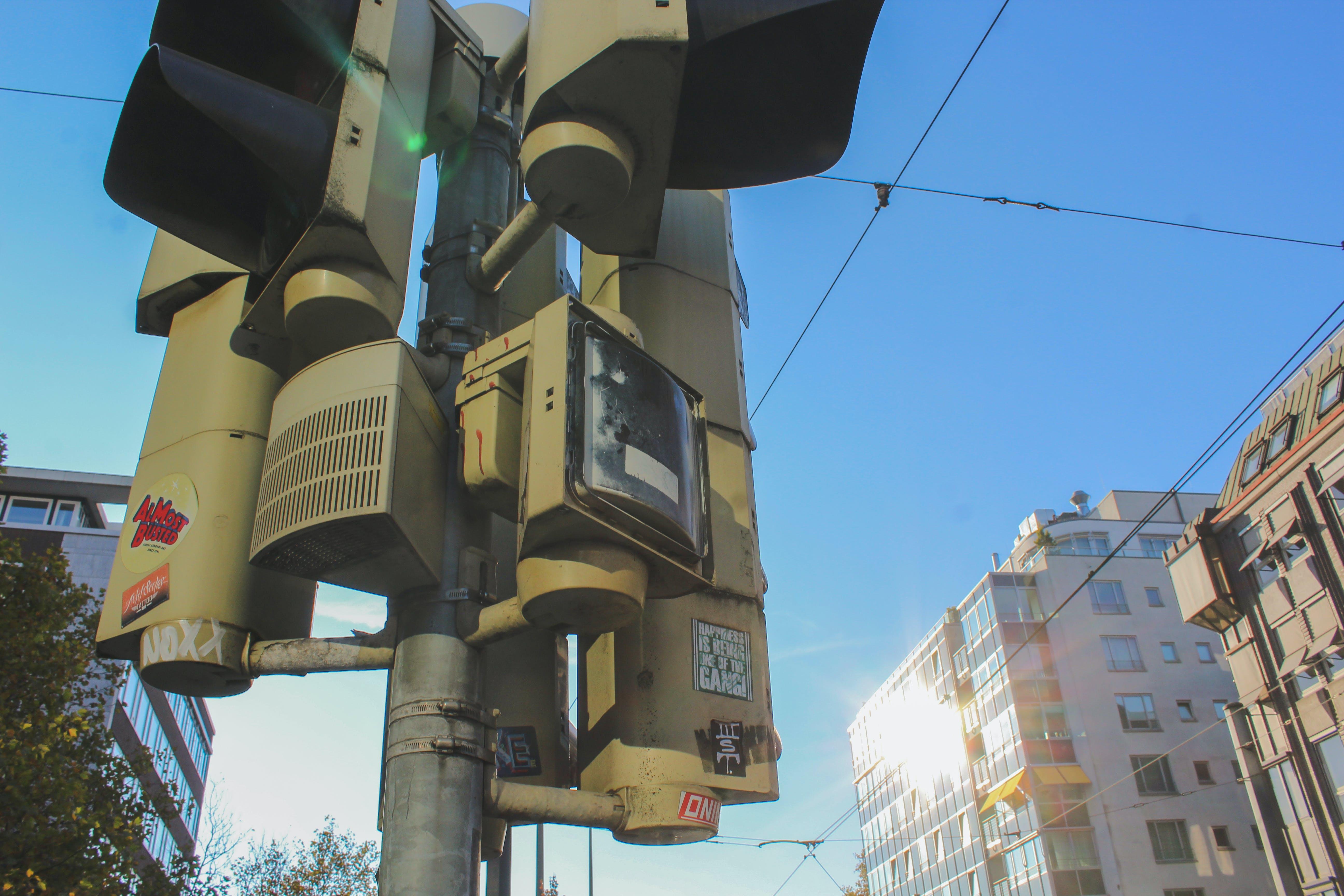 traffic jam, traffic light