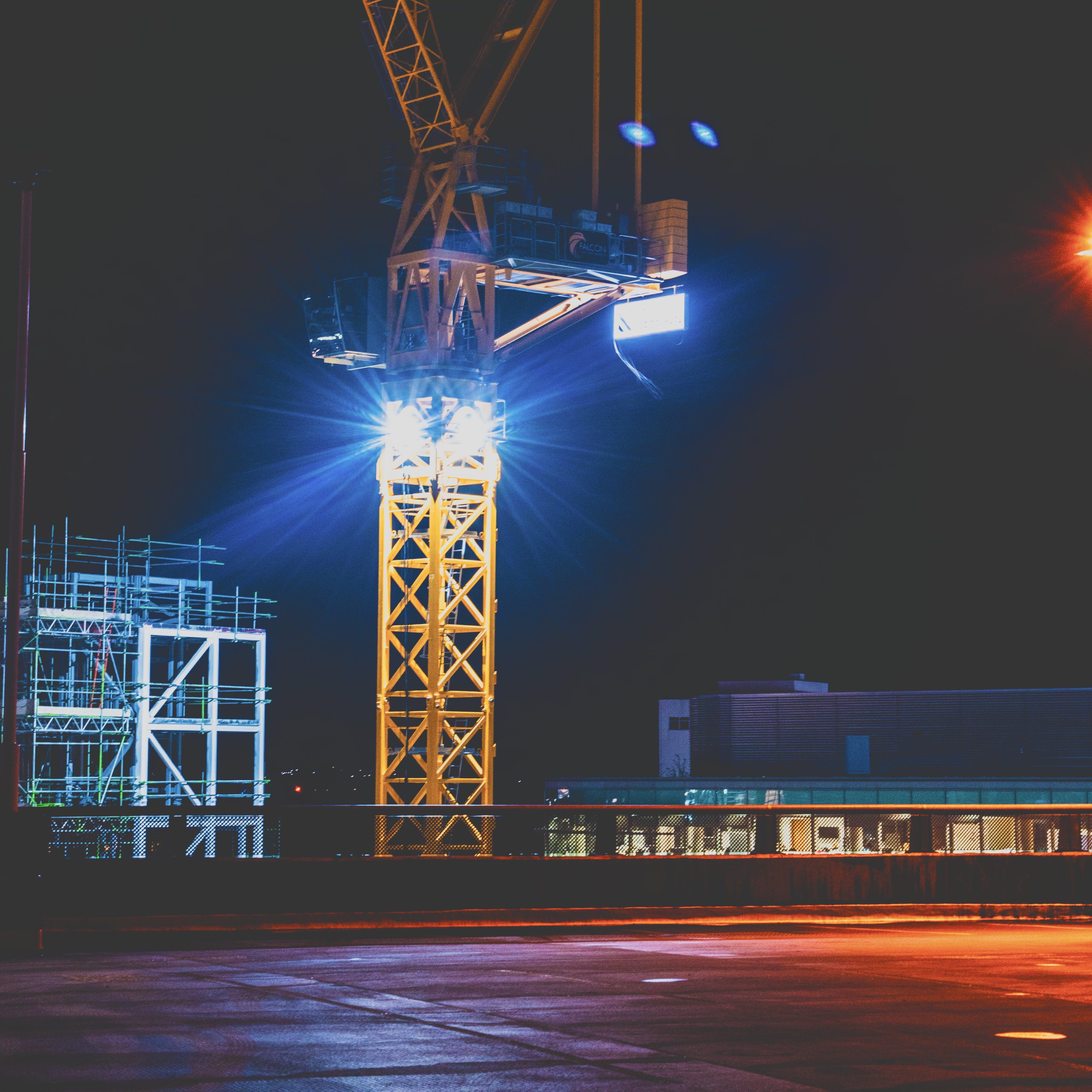 Free stock photo of blue, building site, car park, city