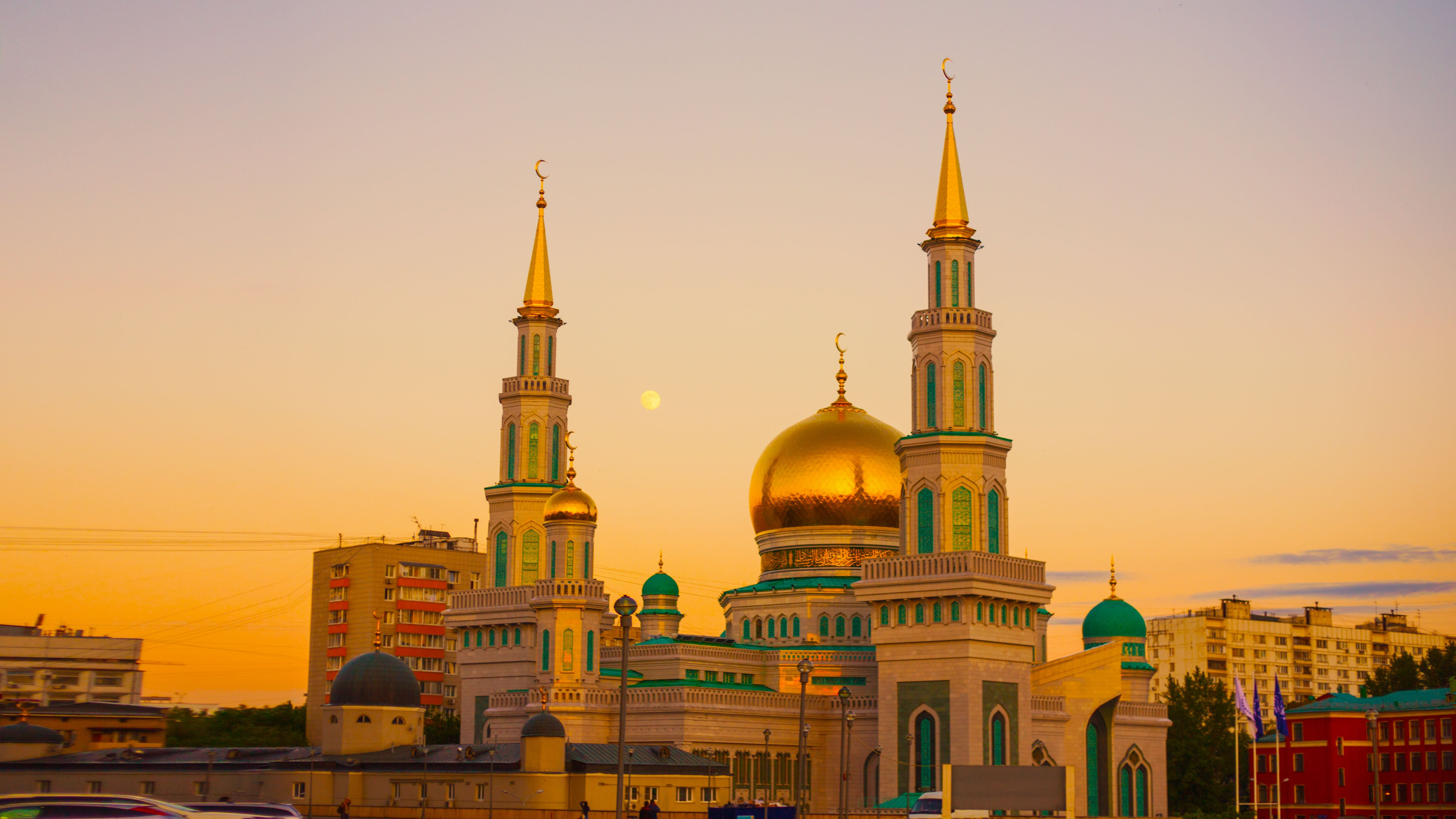 Gold Mosque during Sunset