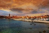 sea, city, sky