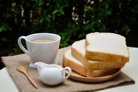 bread, food, coffee