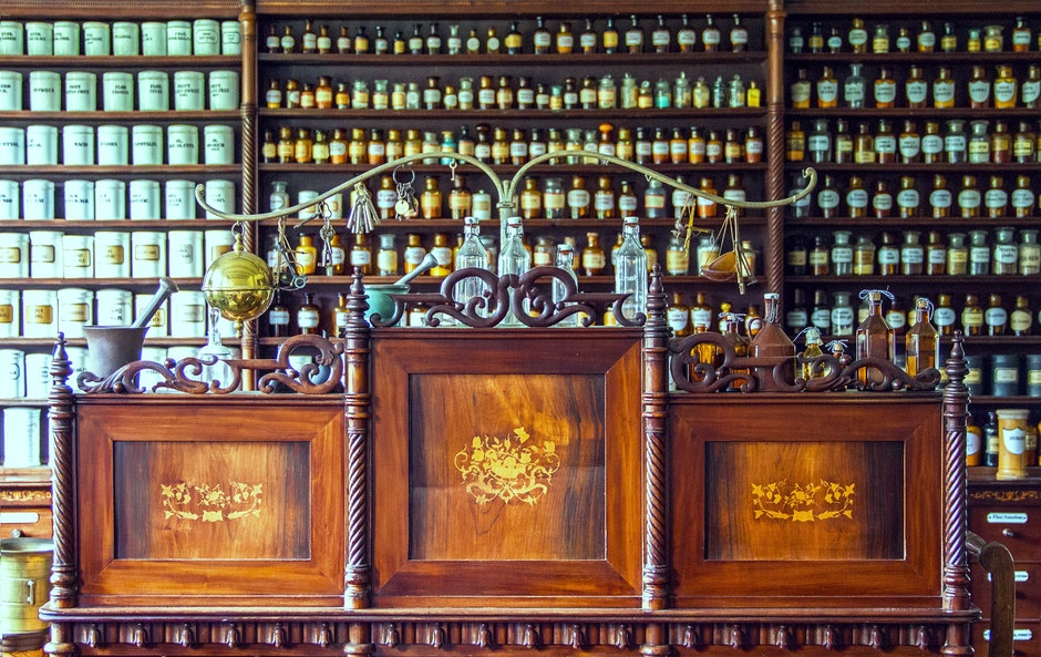 alcohol bottles, antique, bar