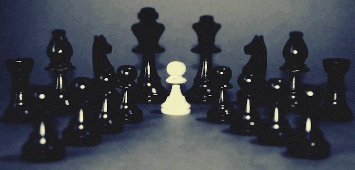 Free stock photo of white, black, chess, indoors