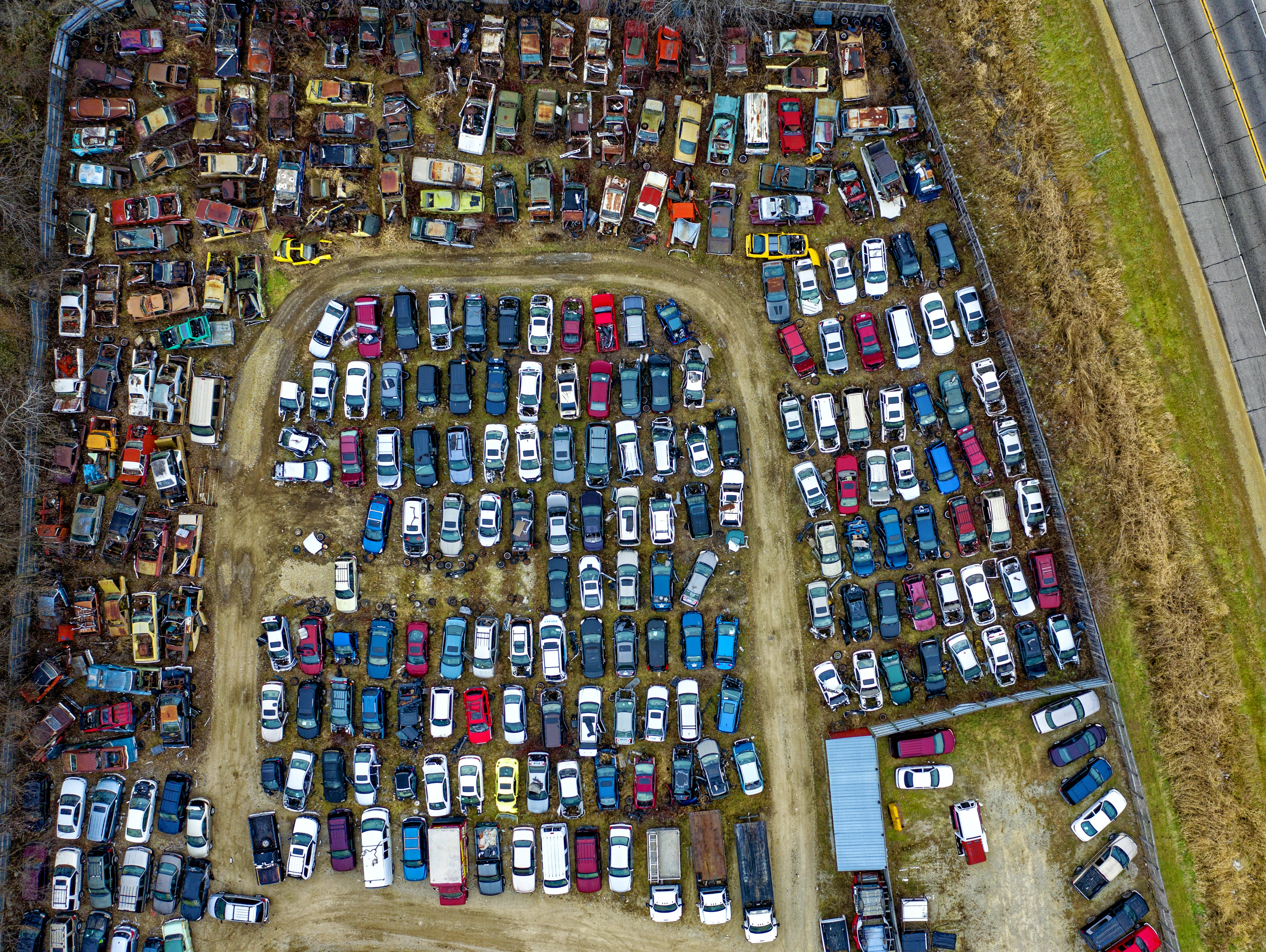 Top View Photo of Junkyard
