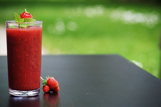 Strawberry Juice in Focus Photography