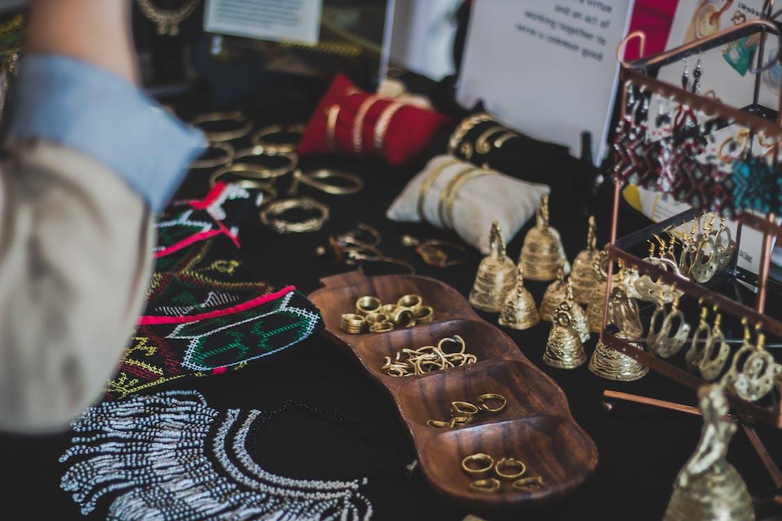 골드, 귀걸이, 금