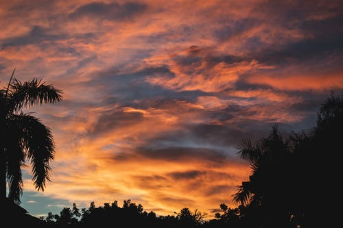 Gratis stockfoto met achtergrondlicht, afgetekend, avond, bewolkte lucht