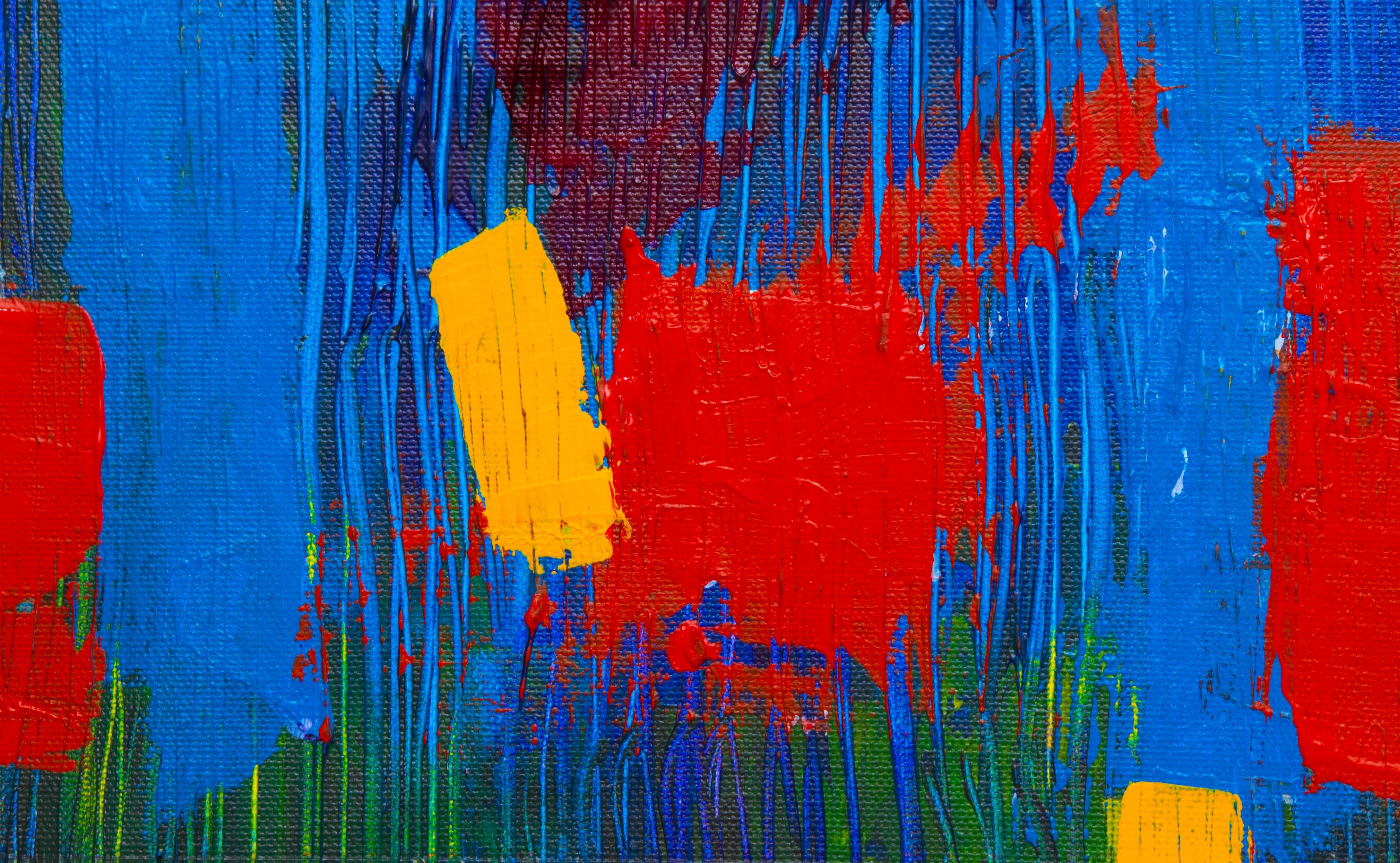 HD-обои, Абстрактный экспрессионизм, акриловая краска