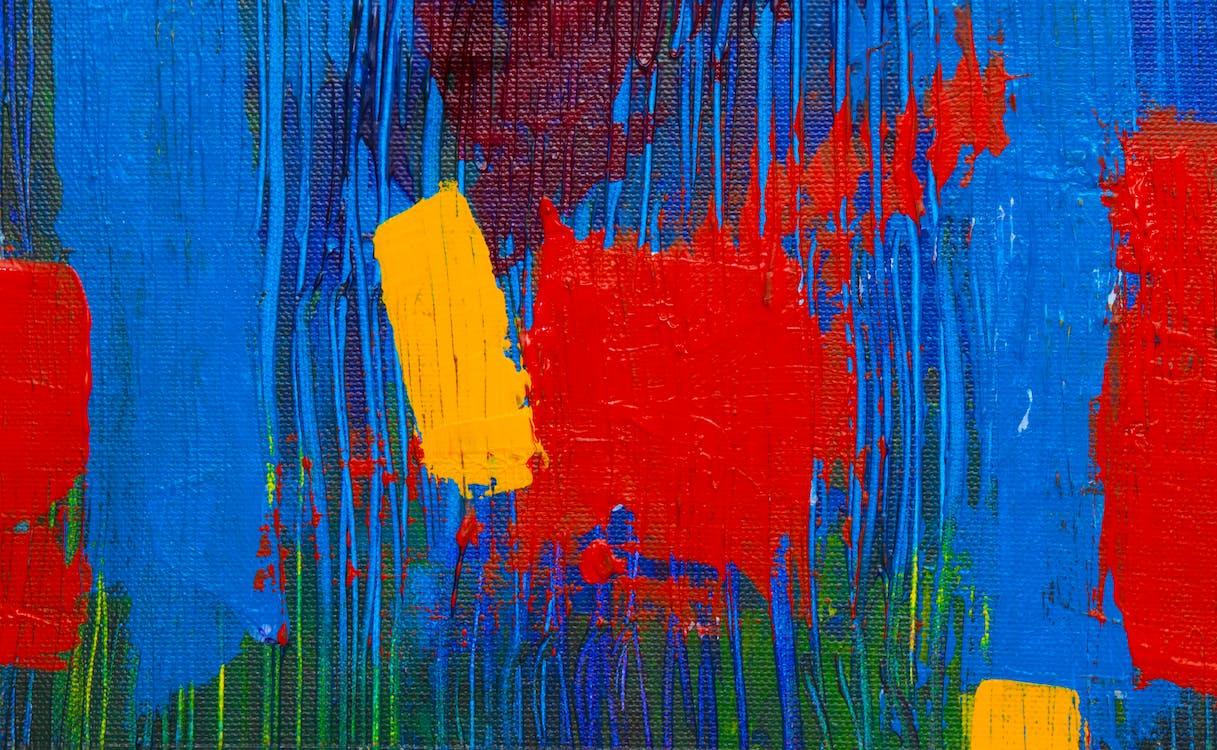 abstrakt ekspresjonisme, akrylmaling, bakgrunn