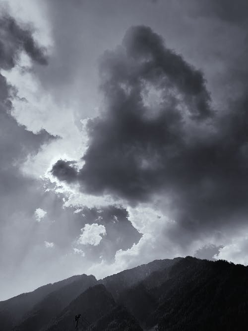 Gray Clouds Above Mountain