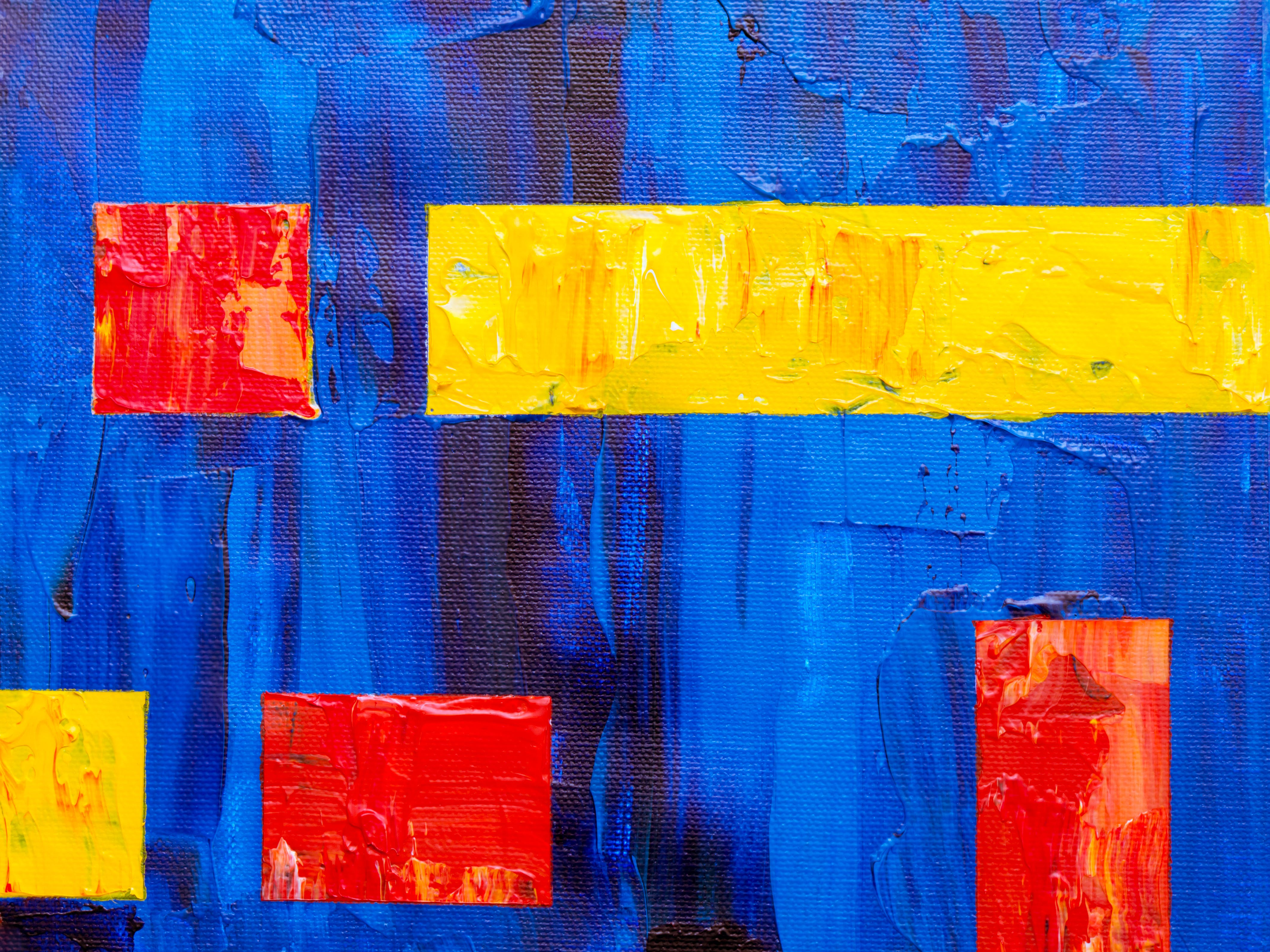 Blue and Yellow Painting