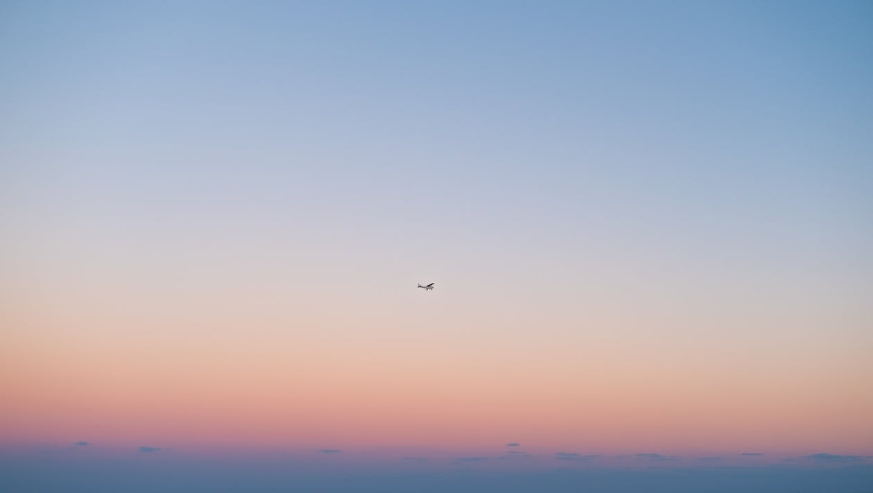 aube, aviation, avion