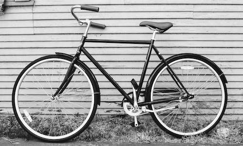 Vélo De Route Noir Et Gris