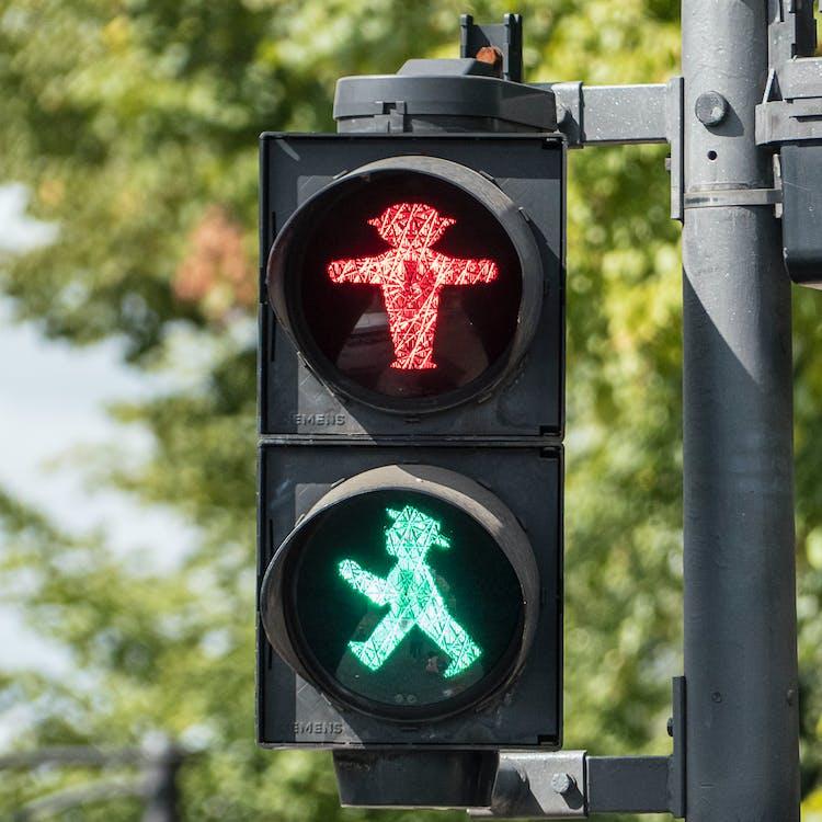 ampelmann, bezpečnost, dopravní značka