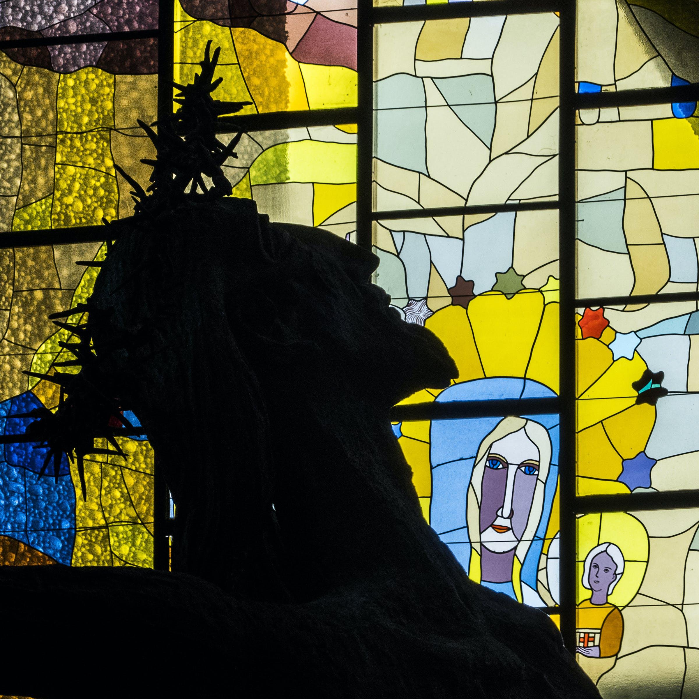 Kostenloses Stock Foto zu buntglas, christus, gesichter, kirche