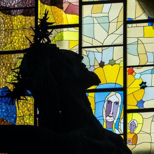 คลังภาพถ่ายฟรี ของ กระจกสี, คริสต์, โบสถ์, ใบหน้า